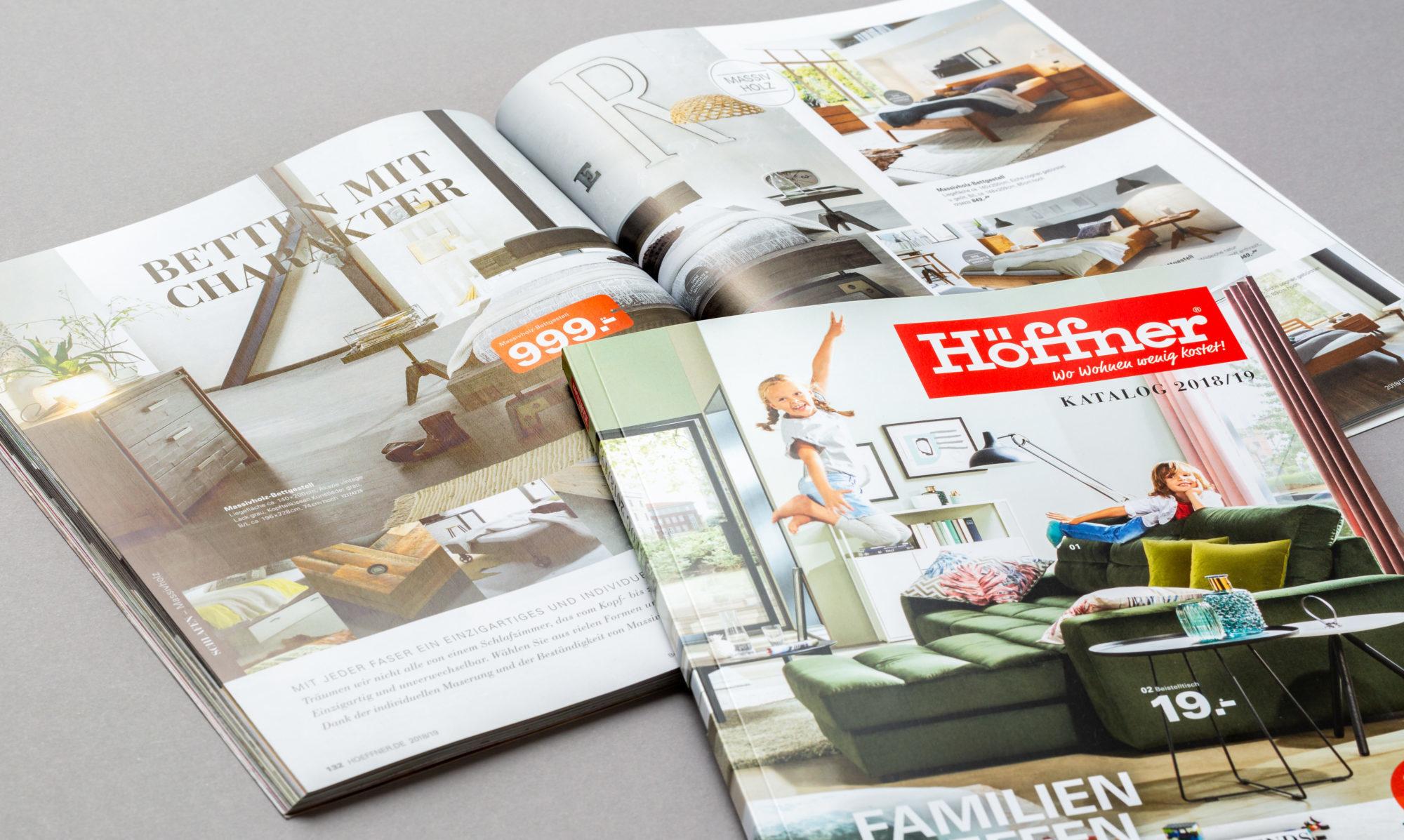 Höffner Kataloggestaltung 2018 bis 2019