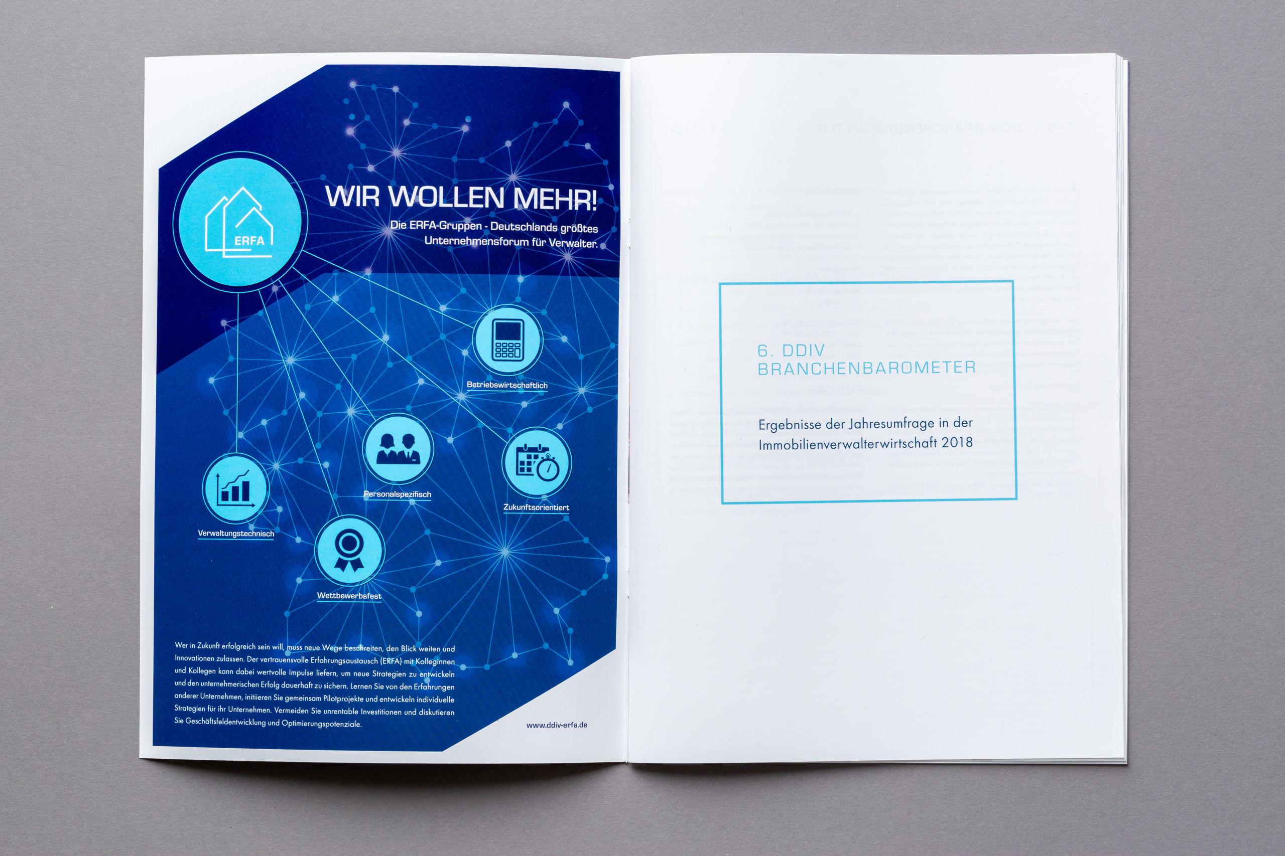 Printanzeige für die VDIV Erfa-Gruppen zur Bekanntmachung