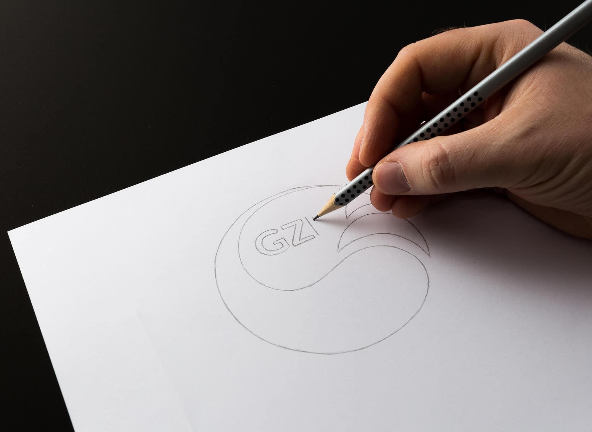 GZP Logo Design Skizzierung Scribble Beitragsbild Gesellschaft für zeitgemäße Pädagogik