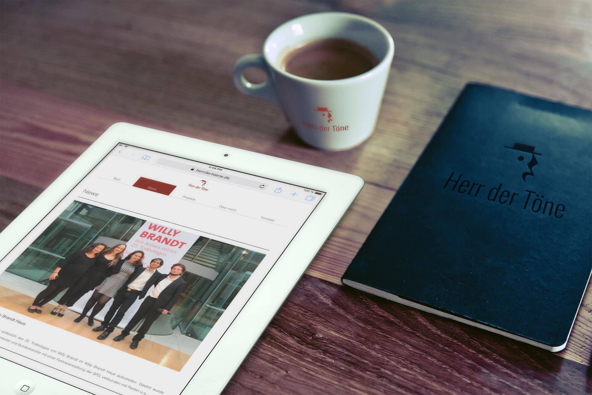 Herr der Töne responsive Webseite Geschäftspapiere