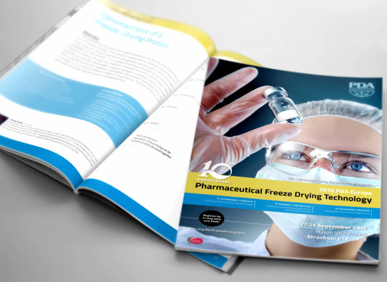 Editorial Design für die Parenteral Drug Association Europe