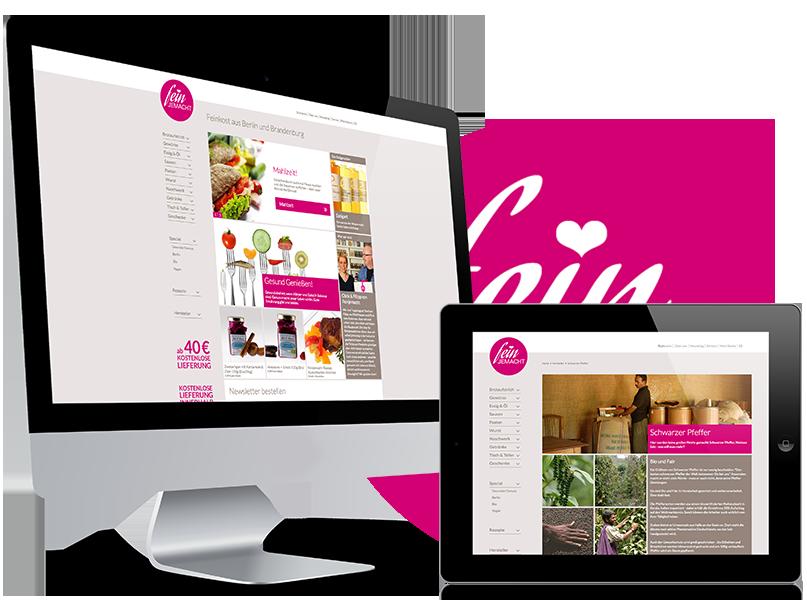 Responsive Webseite und Webshop auf iPad und iMac. UX/UI Design abgestimmt auf alle mobilen Endgeräte.