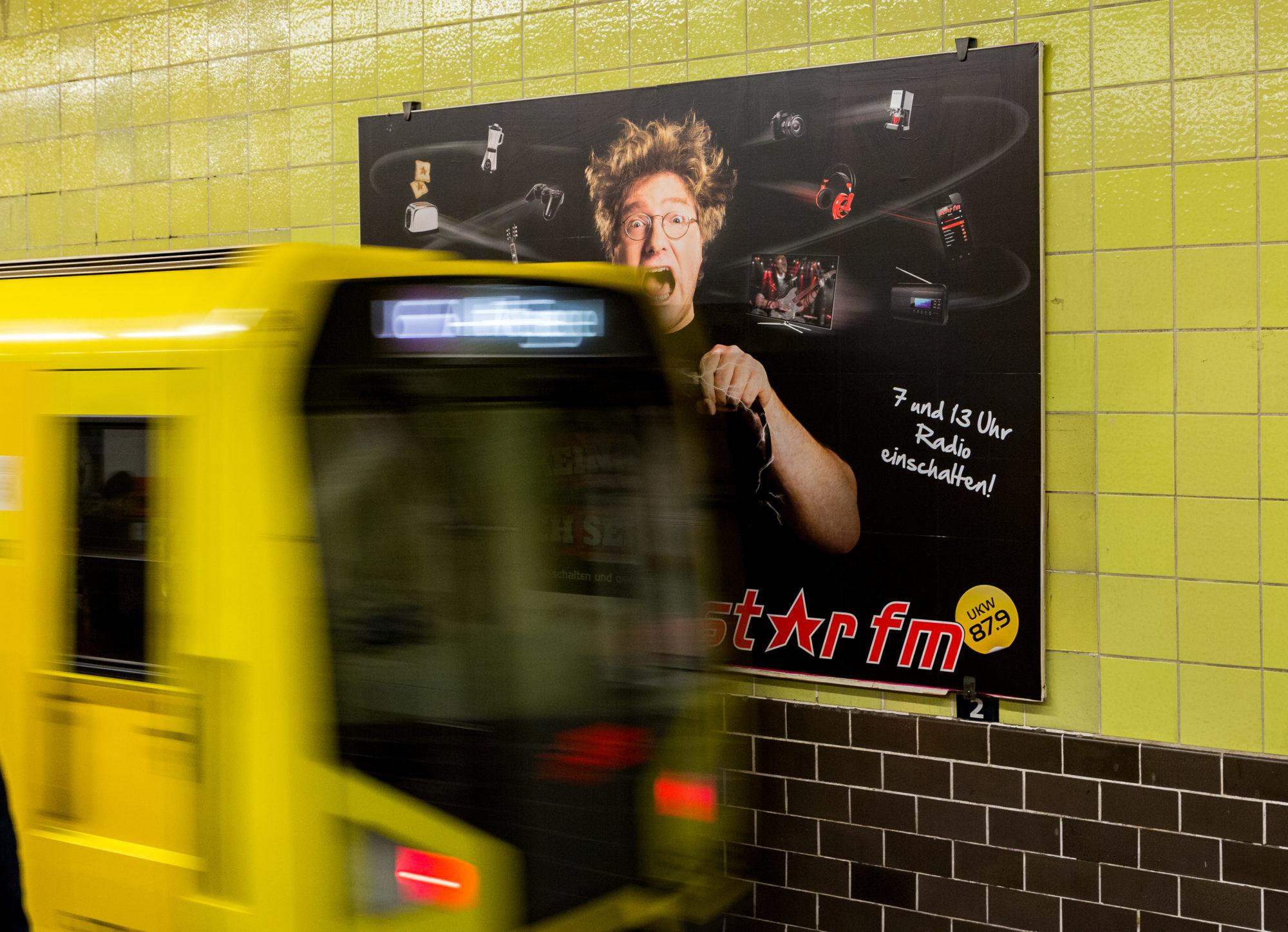 Bildbearbeitung Werbeplakat
